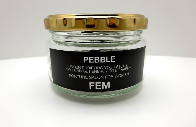 """画像2: """"PEBBLE""""-ペブル-Sapphire(サファイア×ヒマラヤ水晶)"""