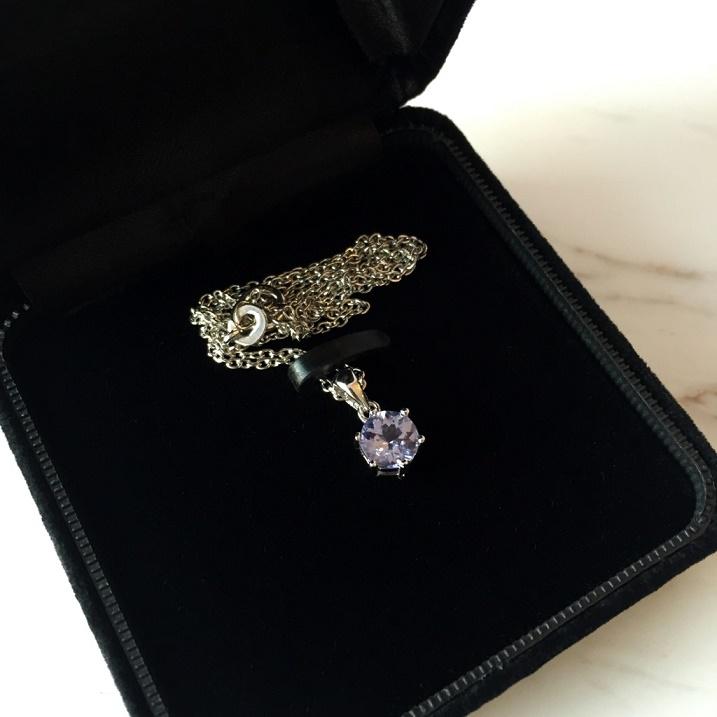 画像2: お守りプチネックレス【宝石質タンザナイト・Silver925】