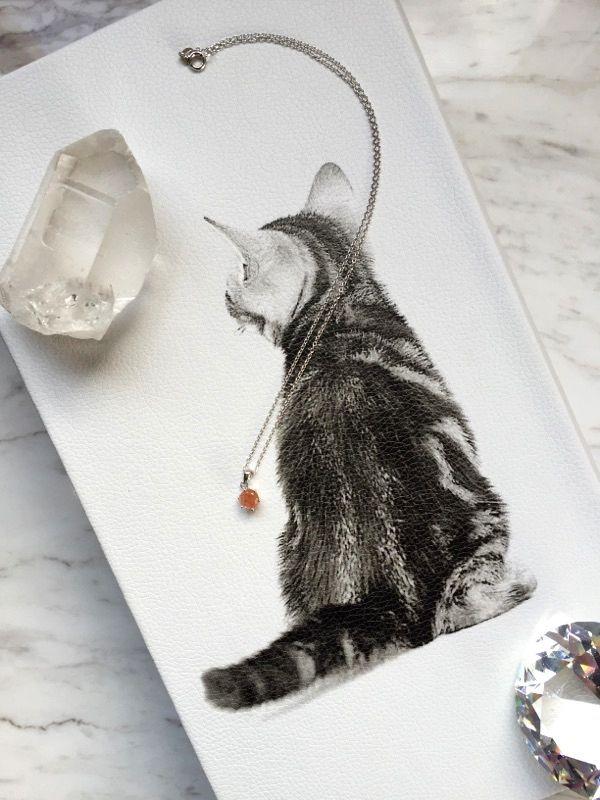 画像2: お守りプチネックレス【宝石質サンストーン・Silver925】