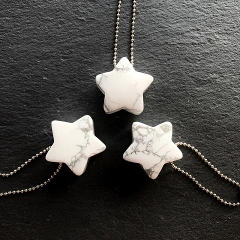 画像3: 天然石ミニサイズチャーム【ハウライト(星)】