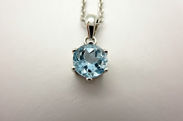 画像1: お守りプチネックレス【宝石質ブルートパーズ・Silver925】